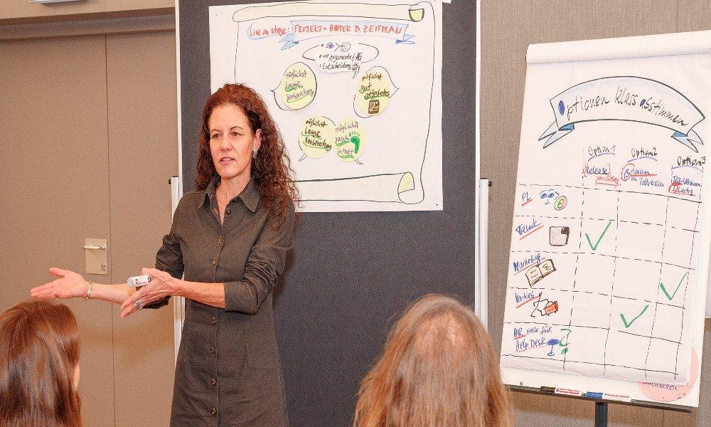 Tragfähige Entscheidungen im ganzen Team treffen. Susanne Schwanzers Gastvortragende beim Business Espresso im Managementforum.